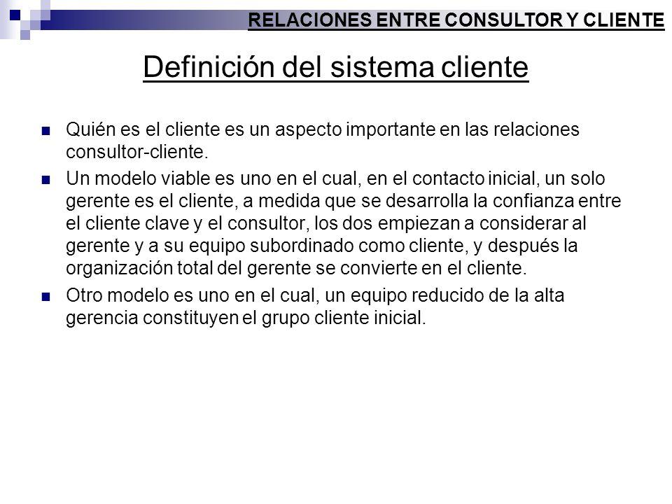 Definición del sistema cliente