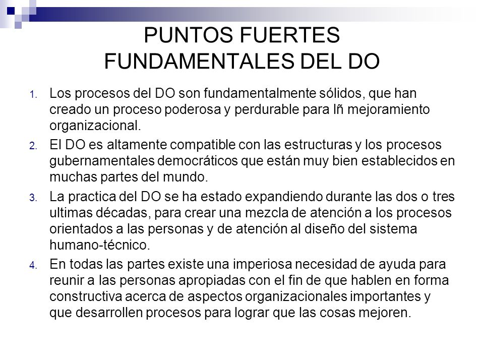 PUNTOS FUERTES FUNDAMENTALES DEL DO