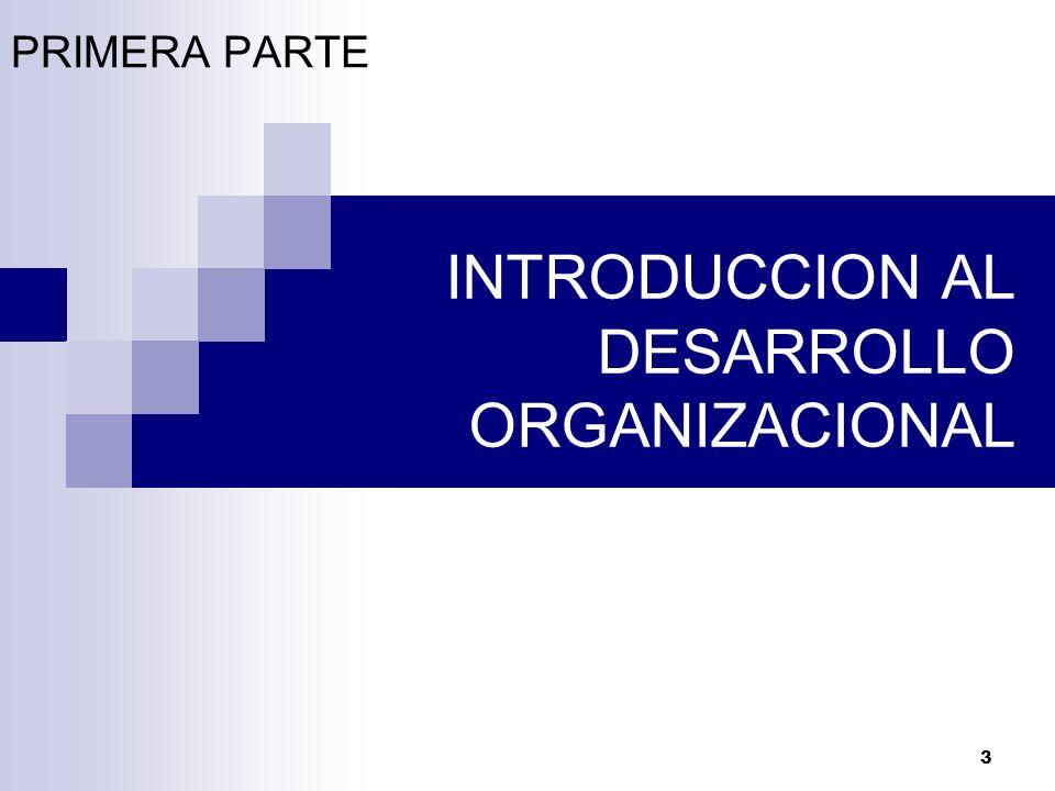 INTRODUCCION AL DESARROLLO ORGANIZACIONAL