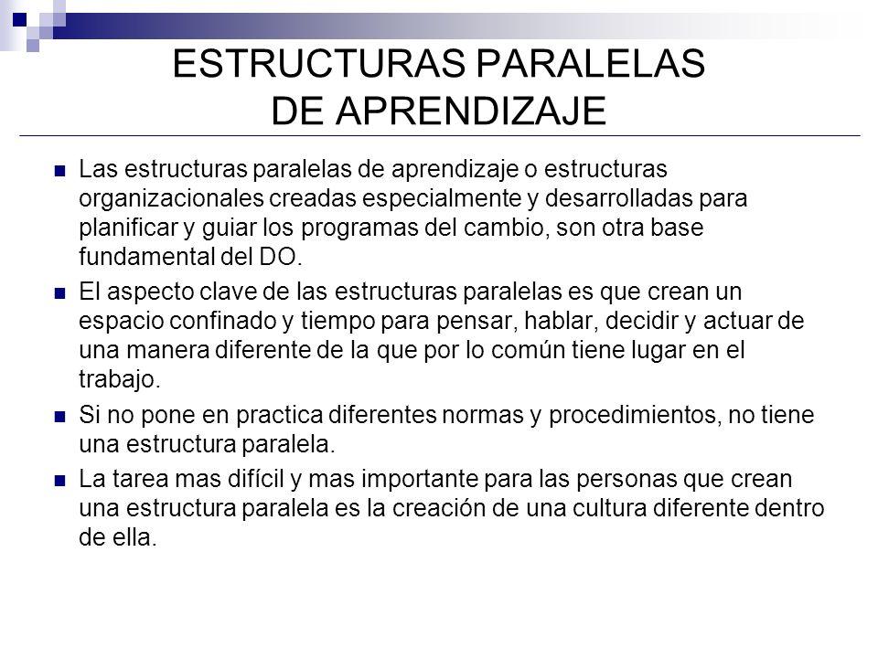 ESTRUCTURAS PARALELAS DE APRENDIZAJE
