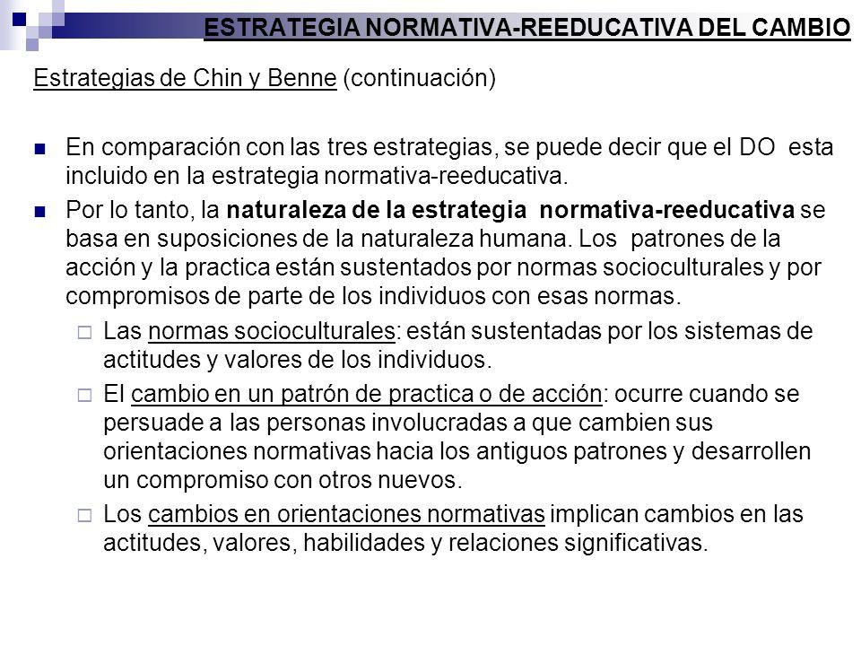 ESTRATEGIA NORMATIVA-REEDUCATIVA DEL CAMBIO