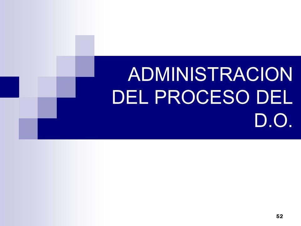 ADMINISTRACION DEL PROCESO DEL D.O.