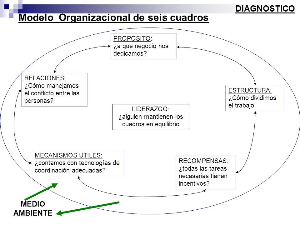 Modelo Organizacional de seis cuadros