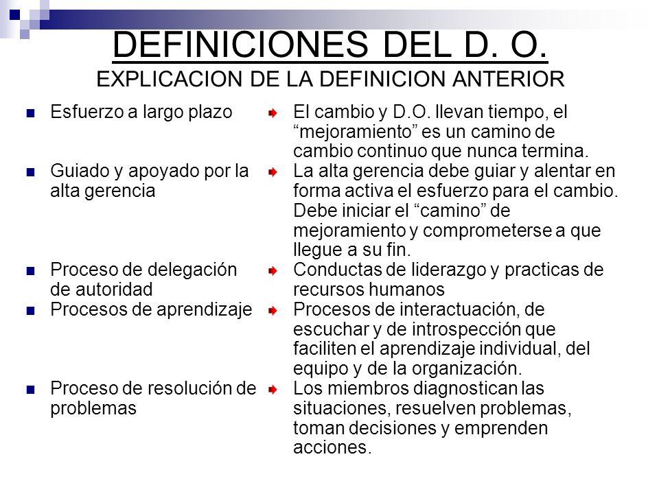 DEFINICIONES DEL D. O. EXPLICACION DE LA DEFINICION ANTERIOR