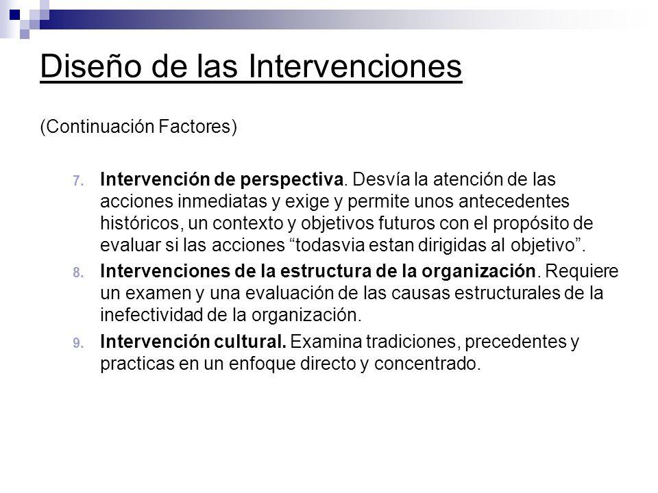 Diseño de las Intervenciones