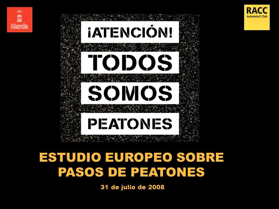 ESTUDIO EUROPEO SOBRE PASOS DE PEATONES