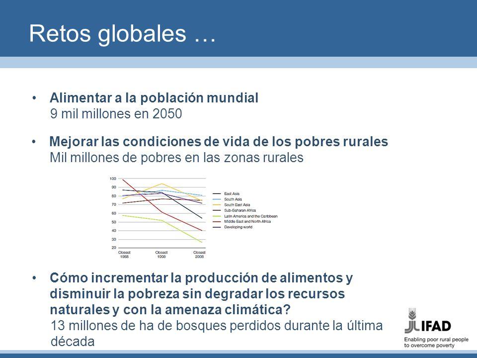 Retos globales … Alimentar a la población mundial