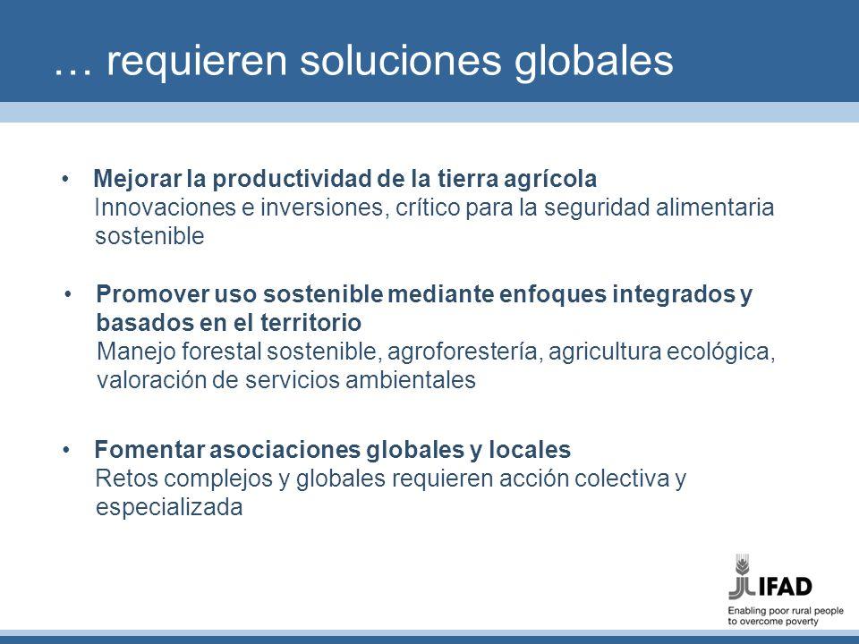 … requieren soluciones globales