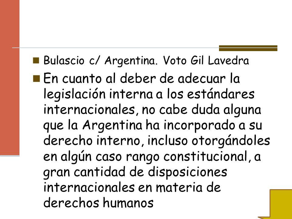 Bulascio c/ Argentina. Voto Gil Lavedra