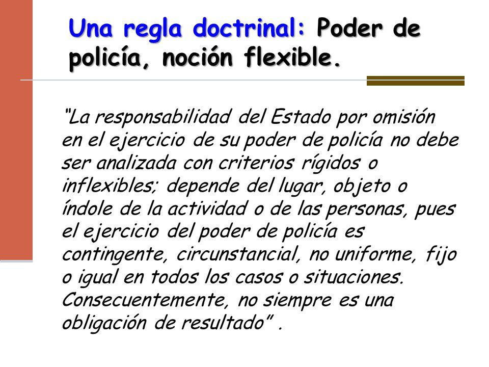 Una regla doctrinal: Poder de policía, noción flexible.