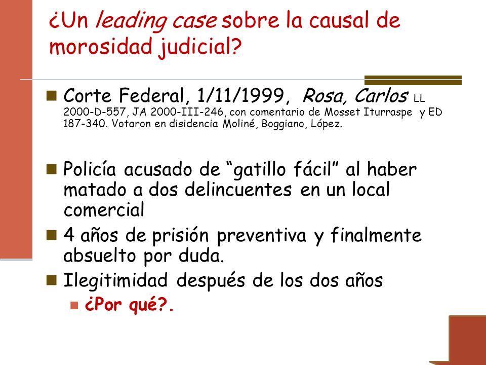 ¿Un leading case sobre la causal de morosidad judicial