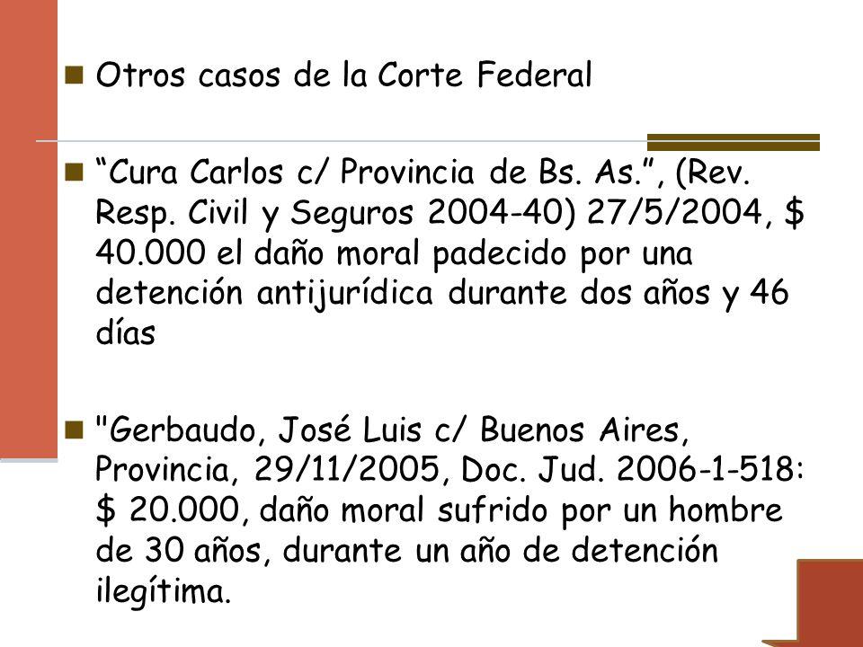 Otros casos de la Corte Federal
