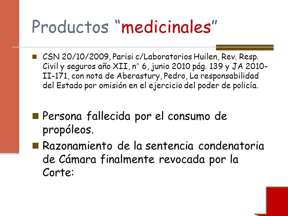 Productos medicinales