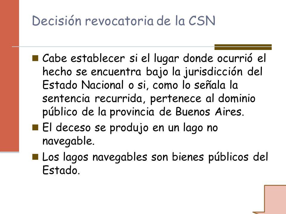 Decisión revocatoria de la CSN