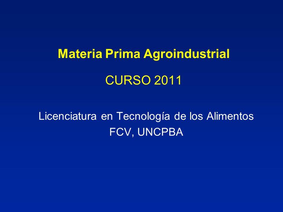 Materia Prima Agroindustrial CURSO 2011