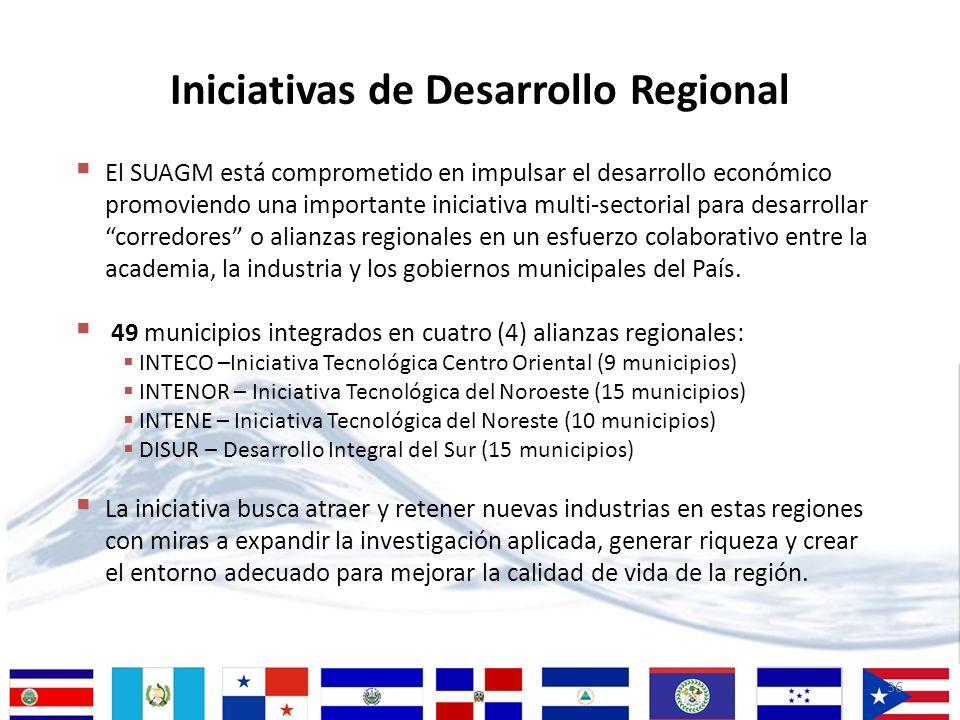Iniciativas de Desarrollo Regional