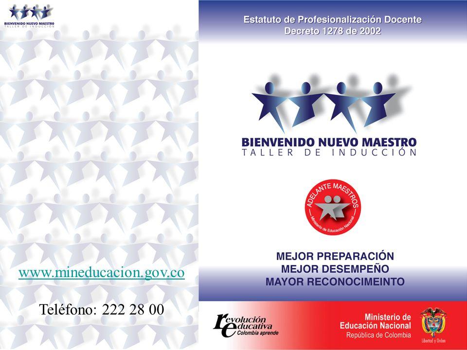 www.mineducacion.gov.co Teléfono: 222 28 00