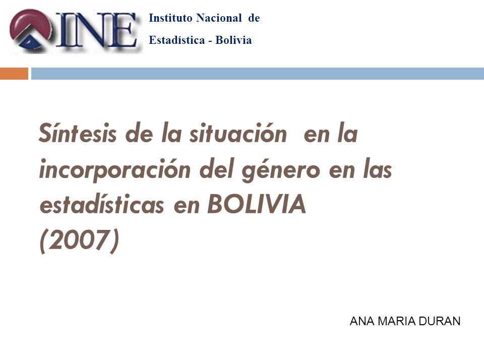 Instituto Nacional de Estadística - Bolivia