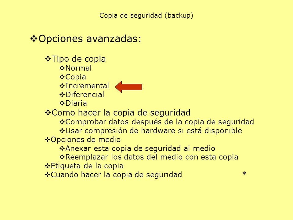 Copia de seguridad (backup)