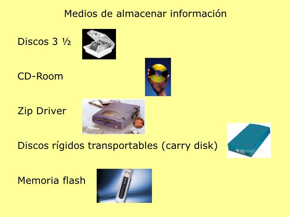 Medios de almacenar información