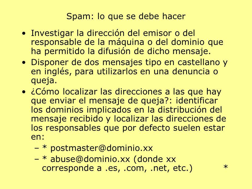 Spam: lo que se debe hacer