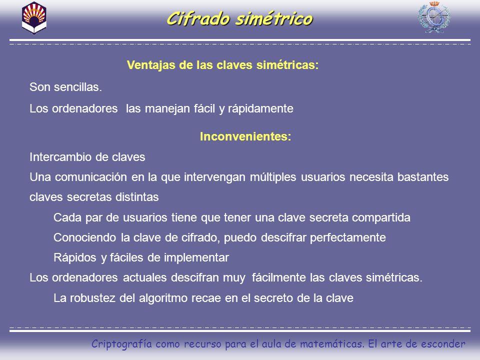 Ventajas de las claves simétricas: