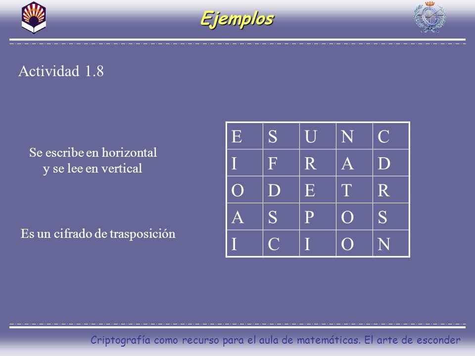 E S U N C I F R A D O T P Ejemplos Actividad 1.8