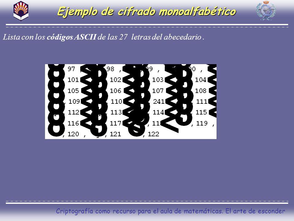 Ejemplo de cifrado monoalfabético