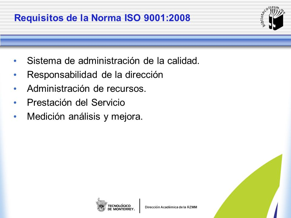 Requisitos de la Norma ISO 9001:2008