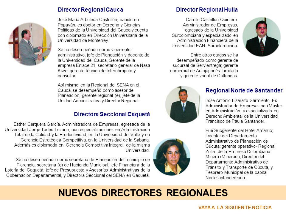 NUEVOS DIRECTORES REGIONALES