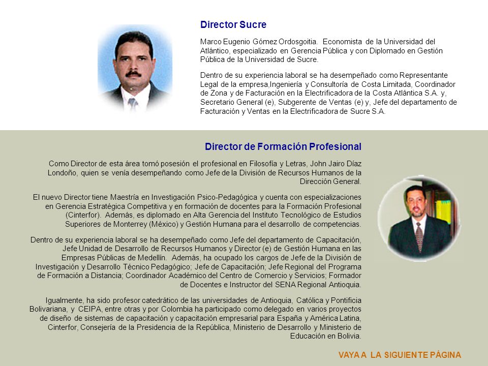 Director de Formación Profesional
