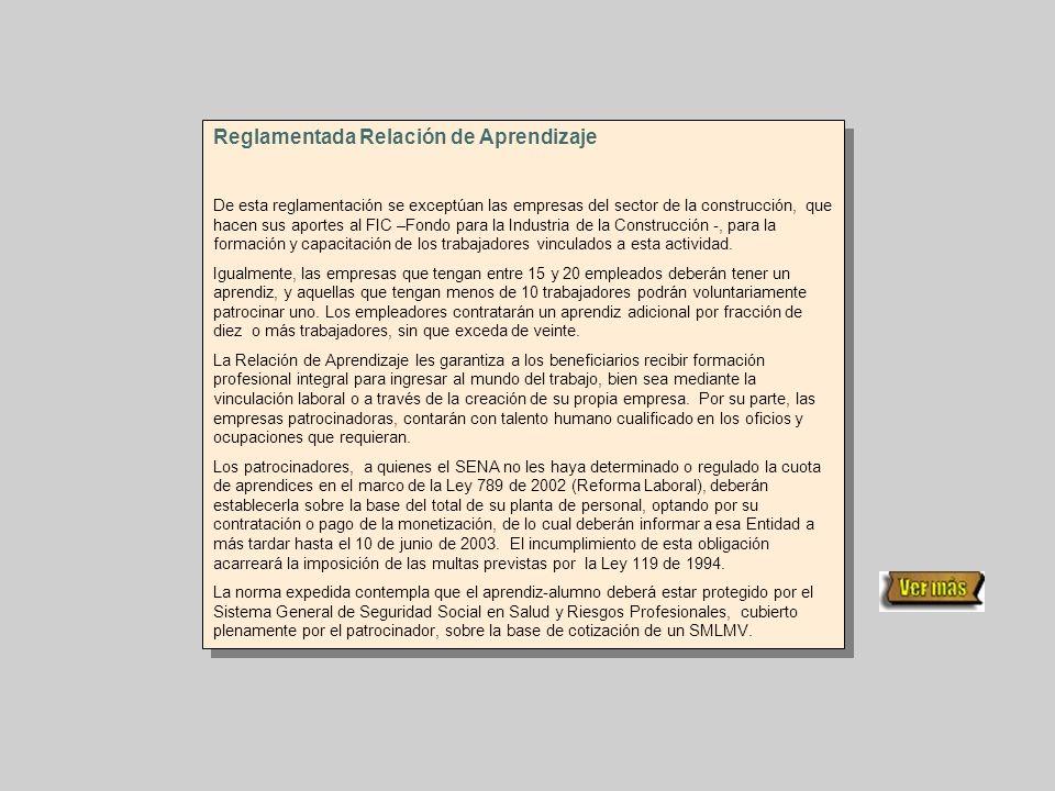 Reglamentada Relación de Aprendizaje