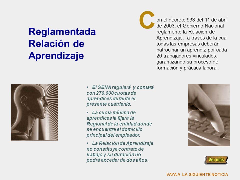 C Reglamentada Relación de Aprendizaje