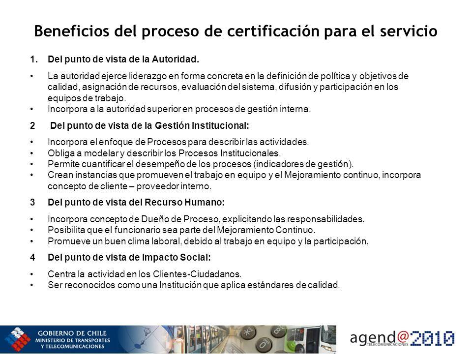 Beneficios del proceso de certificación para el servicio