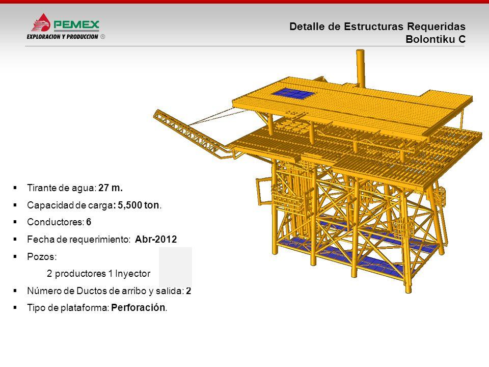 Detalle de Estructuras Requeridas Bolontiku C