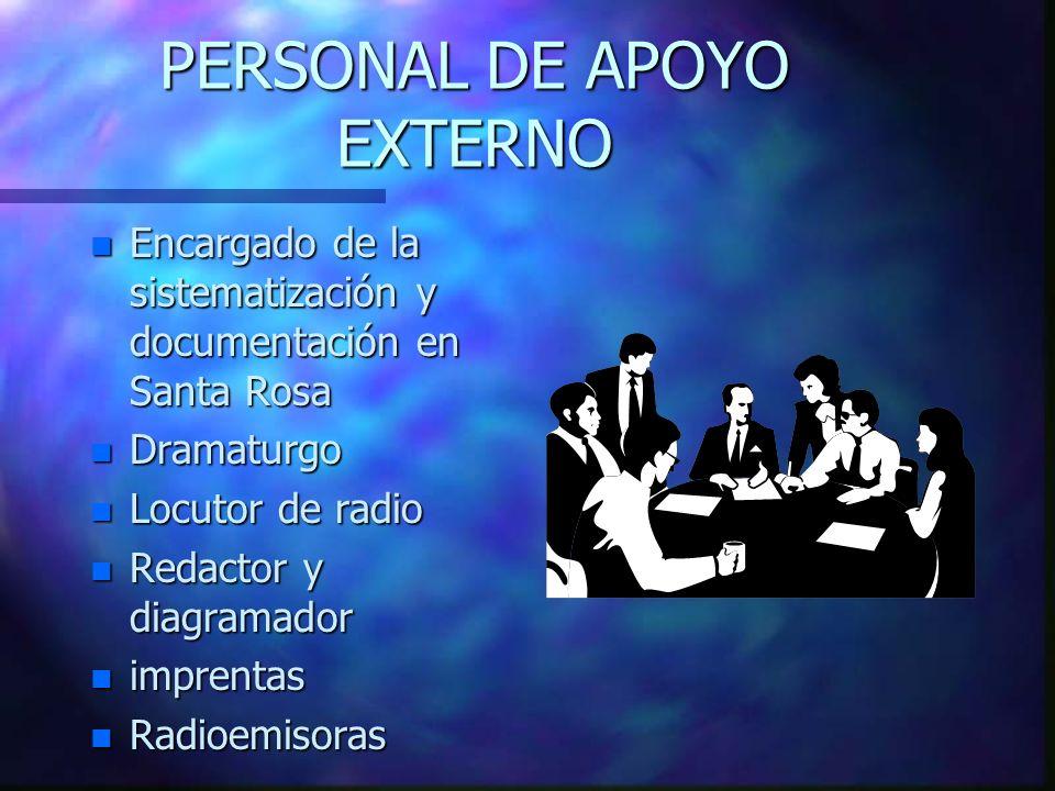 PERSONAL DE APOYO EXTERNO