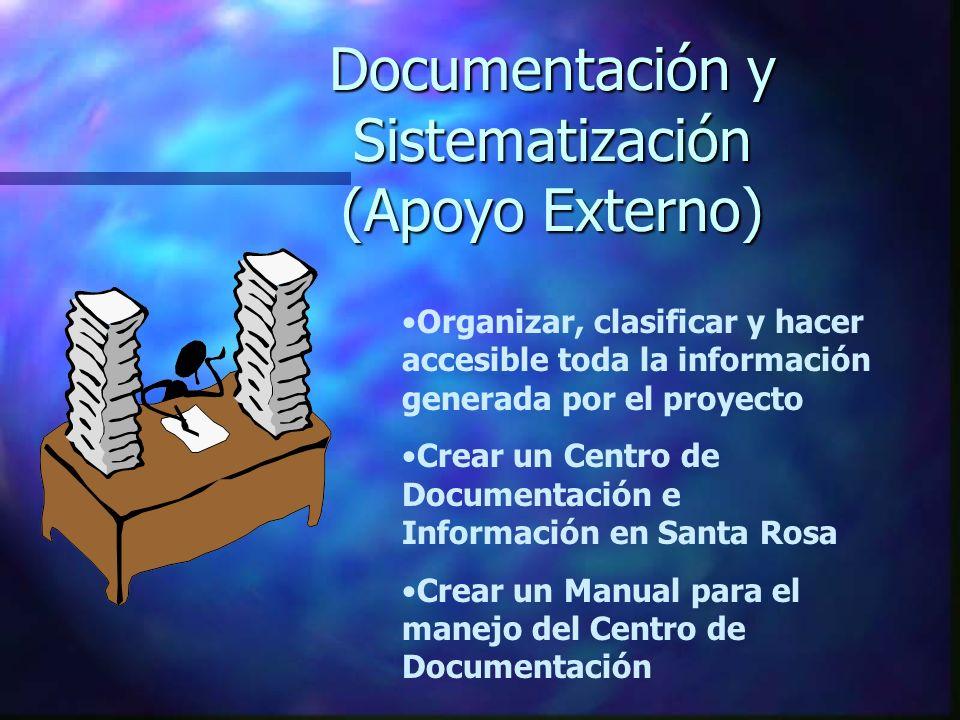 Documentación y Sistematización (Apoyo Externo)