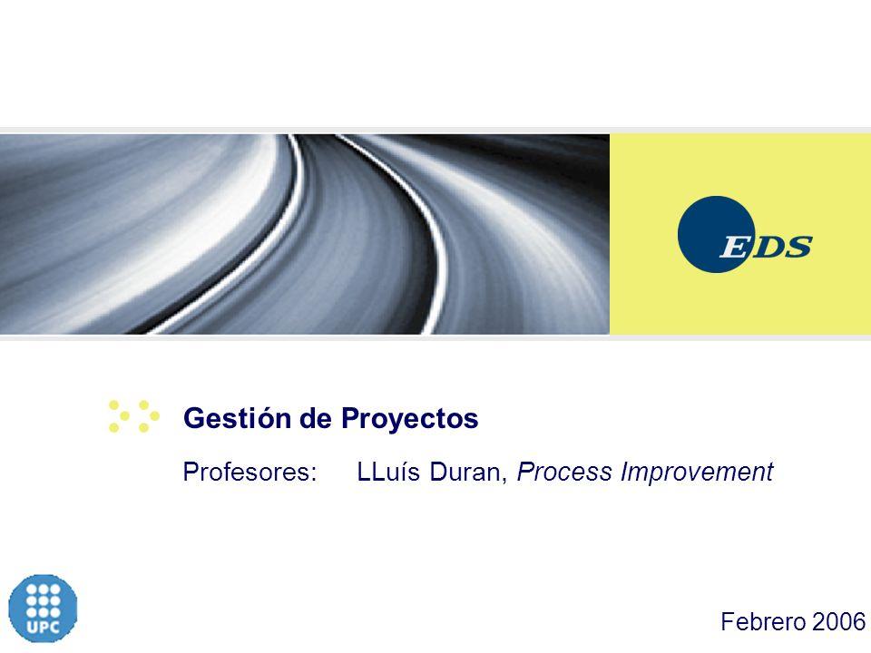Profesores: LLuís Duran, Process Improvement