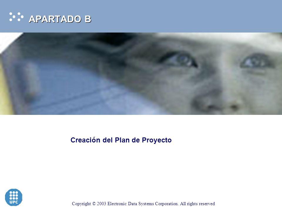 APARTADO B Creación del Plan de Proyecto