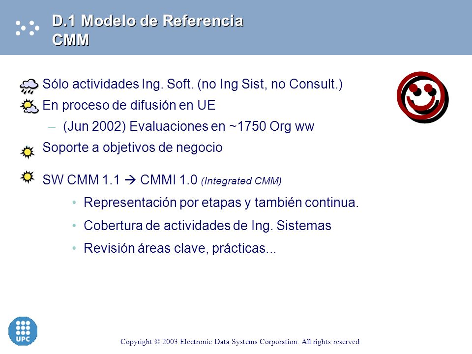  D.1 Modelo de Referencia CMM