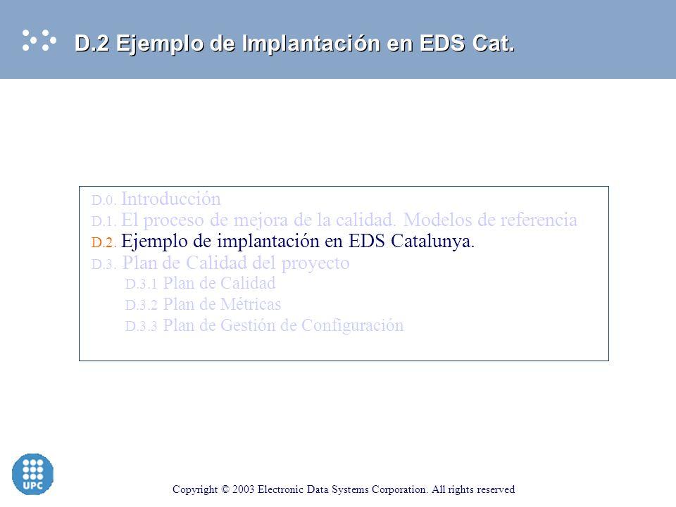 D.2 Ejemplo de Implantación en EDS Cat.