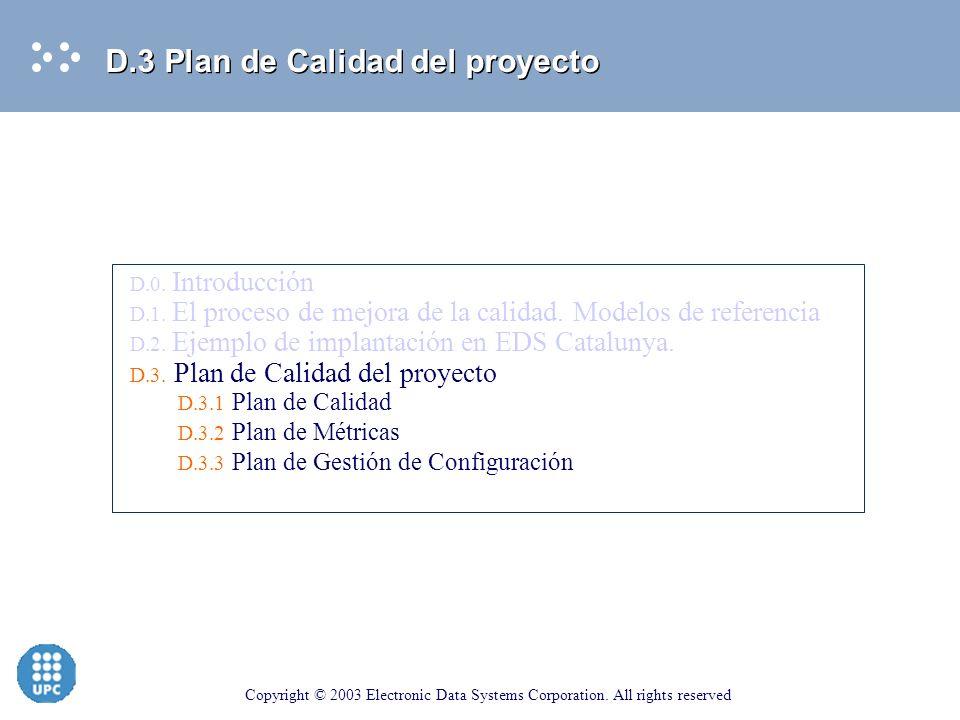 D.3 Plan de Calidad del proyecto