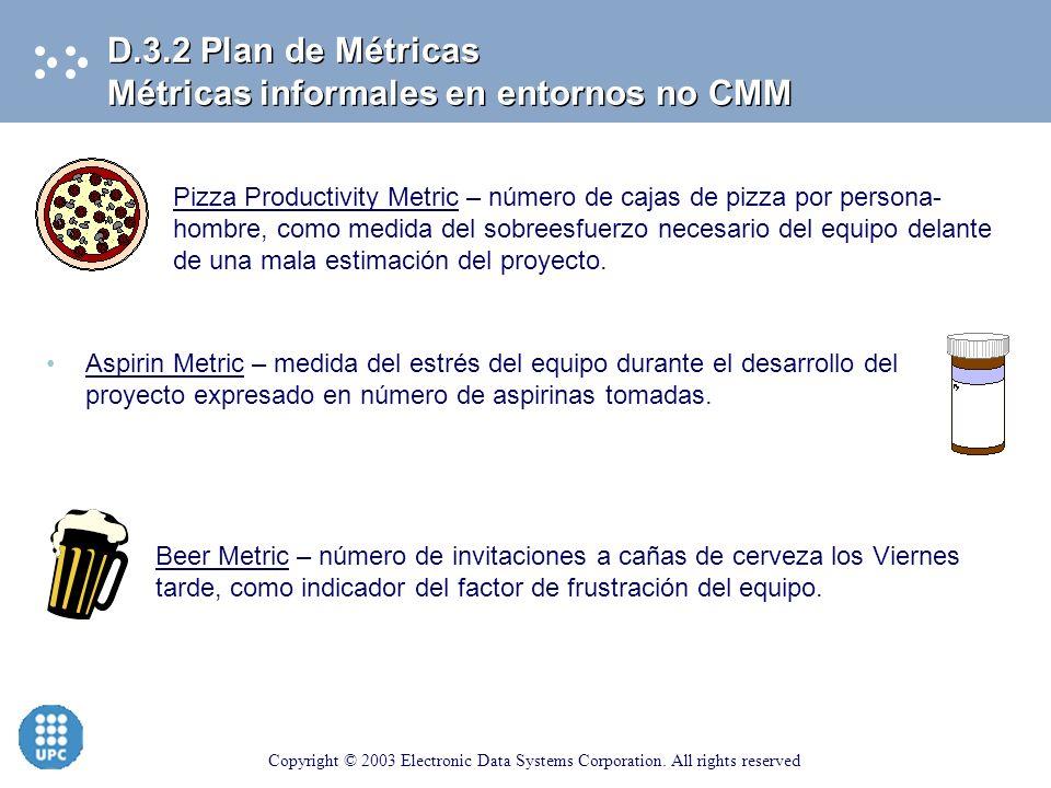 D.3.2 Plan de Métricas Métricas informales en entornos no CMM