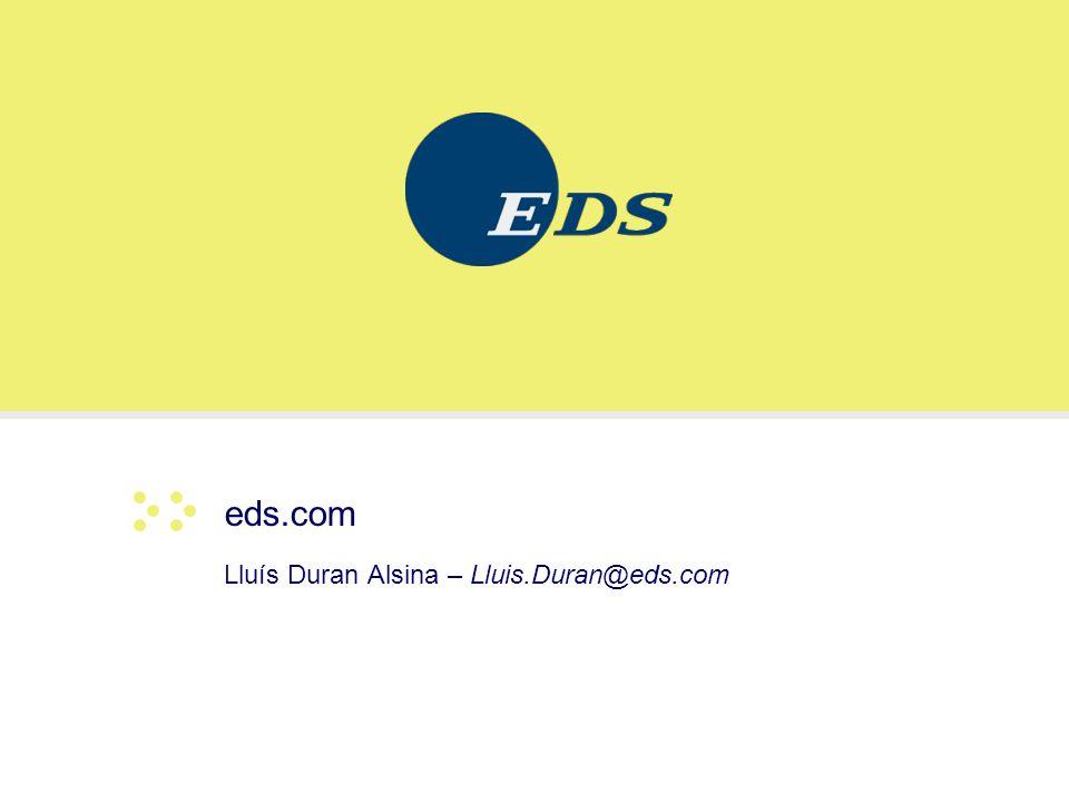 Lluís Duran Alsina – Lluis.Duran@eds.com