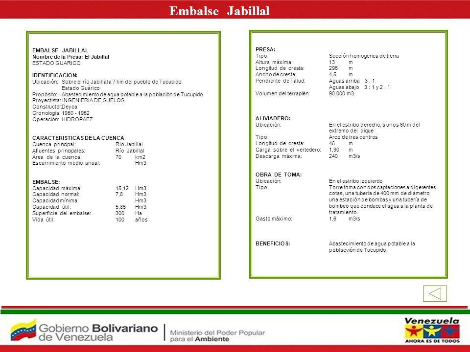 Embalse Jabillal E EMBALSE JABILLAL PRESA: