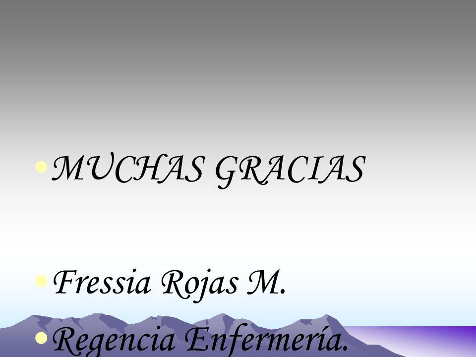 MUCHAS GRACIAS Fressia Rojas M. Regencia Enfermería.