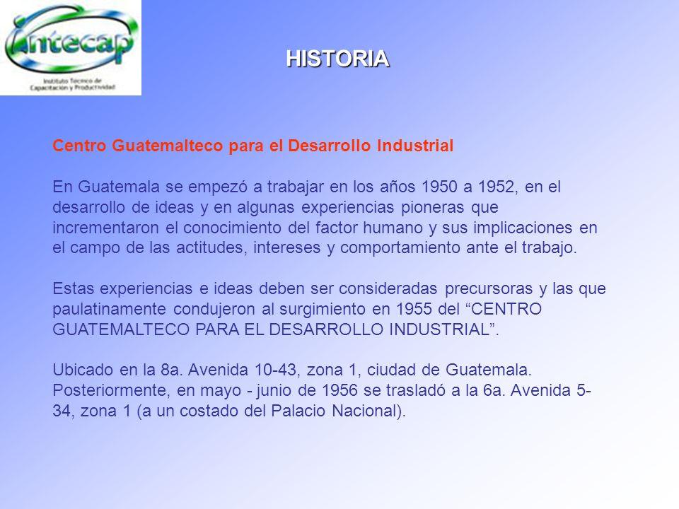 HISTORIA Centro Guatemalteco para el Desarrollo Industrial