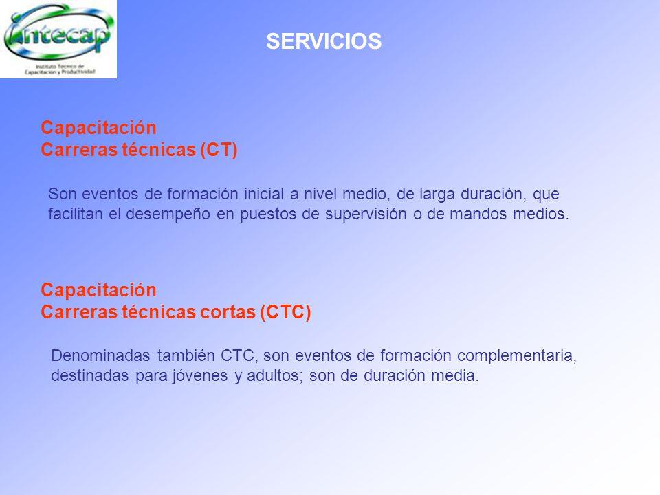 SERVICIOS Capacitación Carreras técnicas (CT)