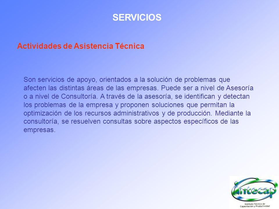 SERVICIOS Actividades de Asistencia Técnica