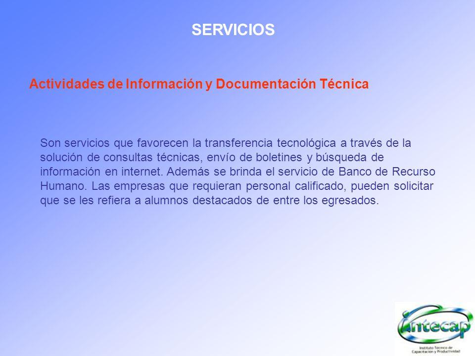 SERVICIOS Actividades de Información y Documentación Técnica